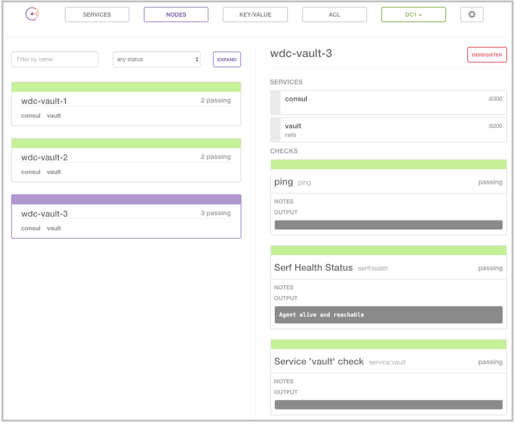 Distil network securely stores and manage all their for Consul http health check